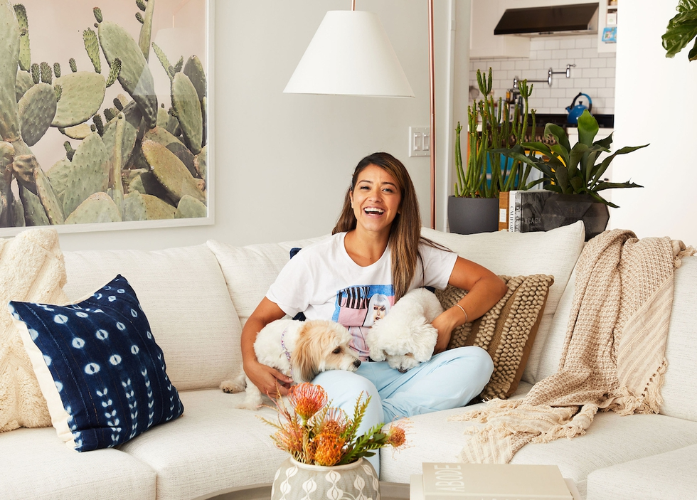 Gina Rodriguez's Cali-Chic Living Room Makeover