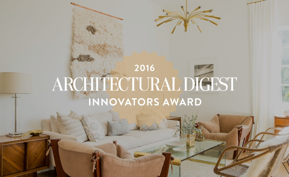 WINNER - Architectural Digest 2016 Innovators Awards