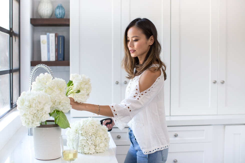 Jamie Chung Kitchen with Decorist Celebrity Designer Will Wick