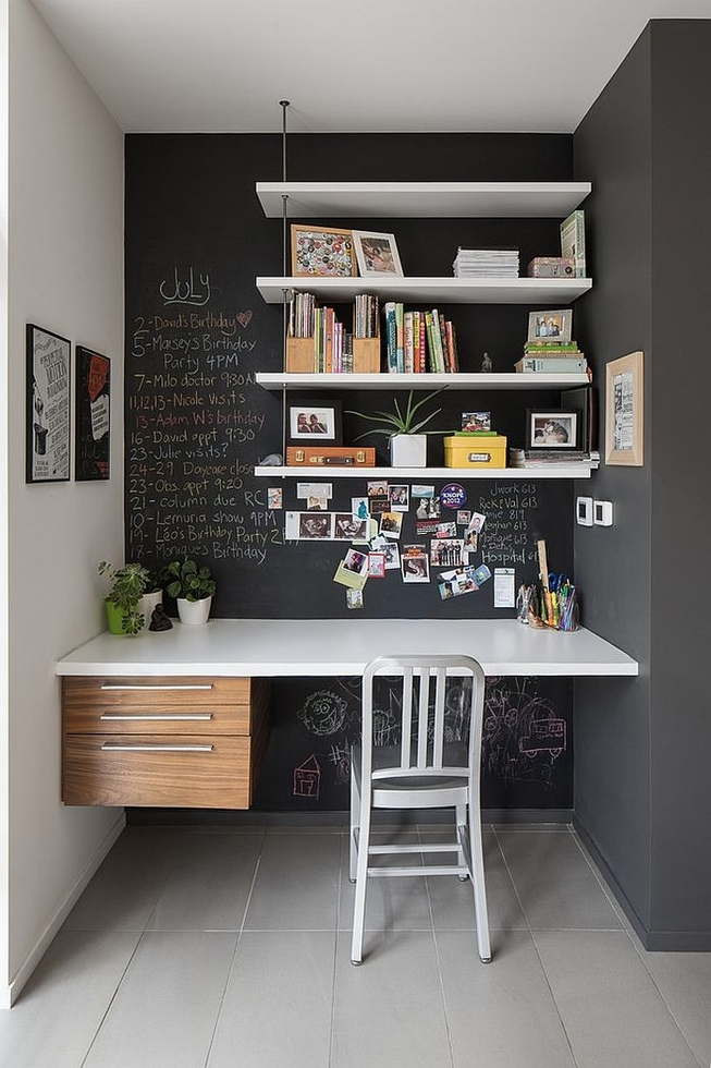 Charming Home Office Decorating Ideas | Wall Paint Ideas. Image Via Pinterest
