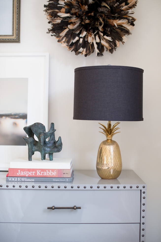 Brass Pineapple Lamp from Chairish