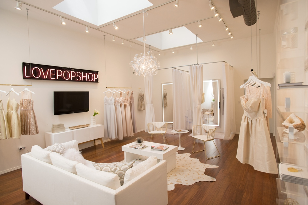 A Peek Inside A Luxe, Feminine Bridal Salon Designed On A Start Up Budget