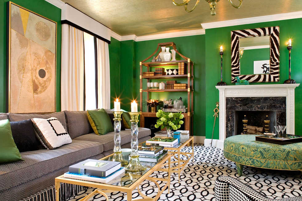 11 paint colors you\u0027d never paint your walls until now decorist Pictures Pics Of Green Wall ... & Pictures Pics Of Green Wall Paint Ideas | amazing home interior