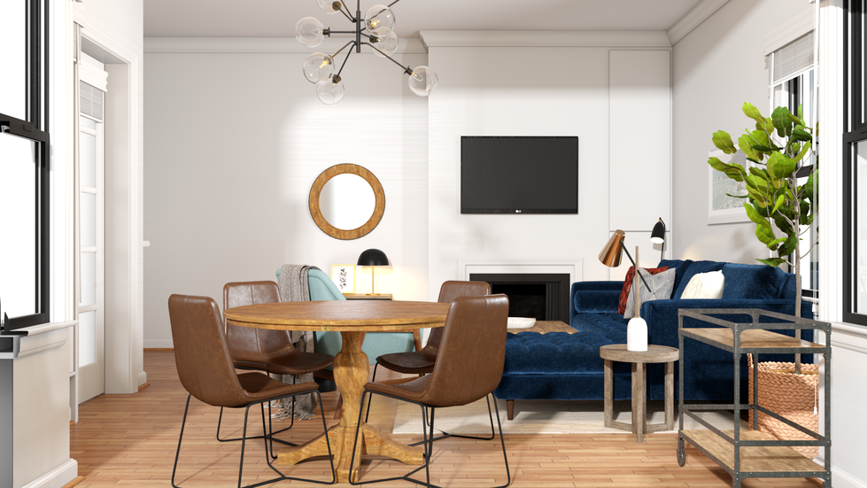 Modern Eclectic Living And Dining Room
