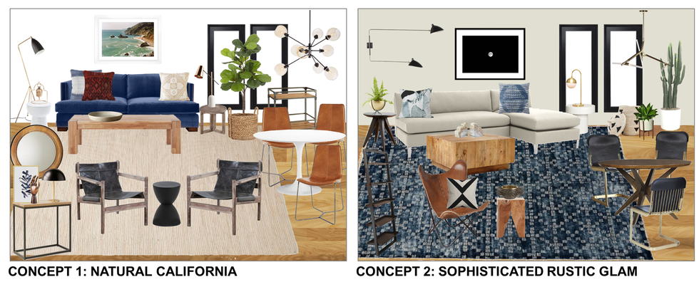 Design Concepts for Modern-Eclectic Living and Dining Room