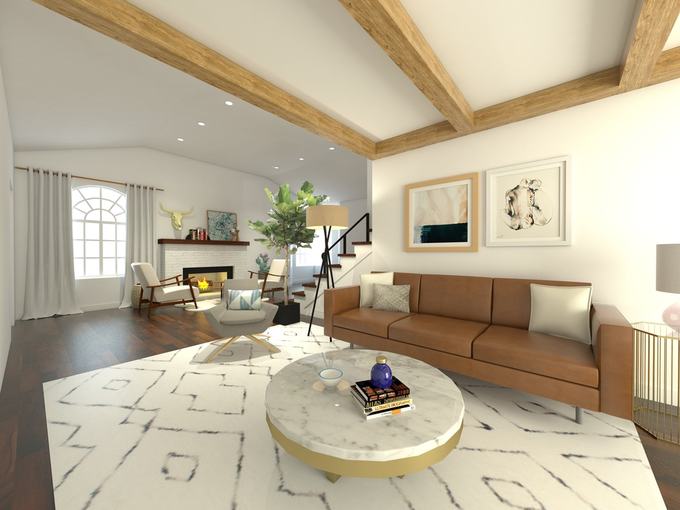 Modern-Eclectic Living Room