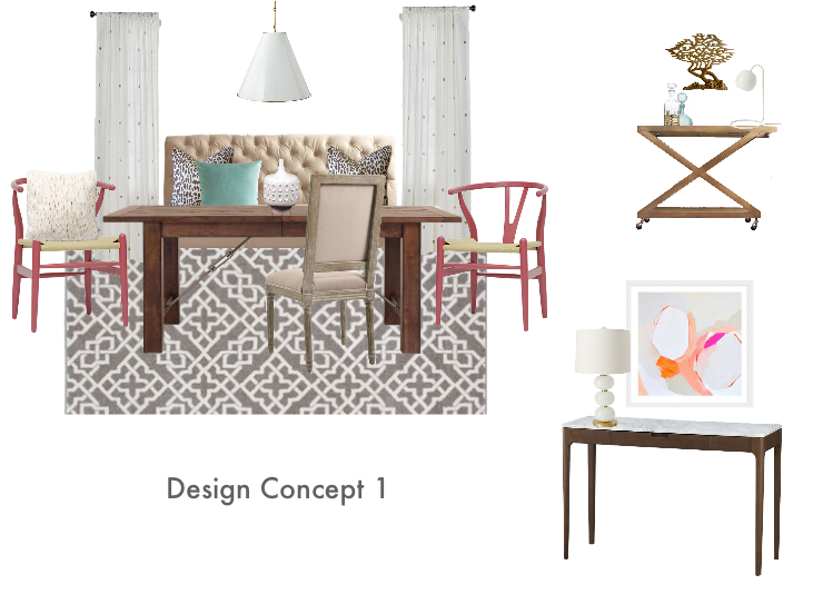 Living Room Design Concept #1