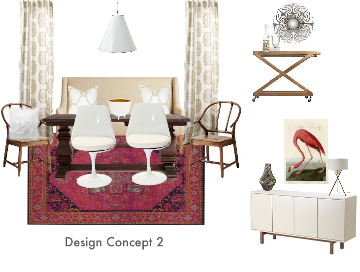 Living Room Makeover Design Concept #2