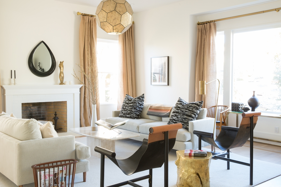 Before and After: Our CEO's Luxe Modern-Eclectic Living Room