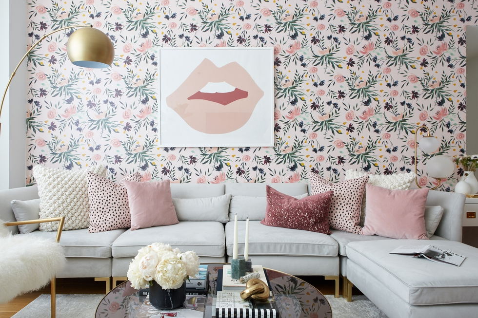 Inside One House Beautiful Editor's Glam Living Room Makeover