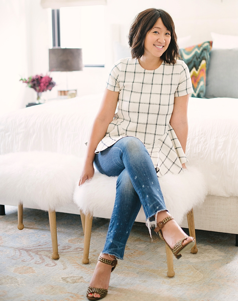 Blogger Erica Chan of HonestlyWTF in her new bedroom