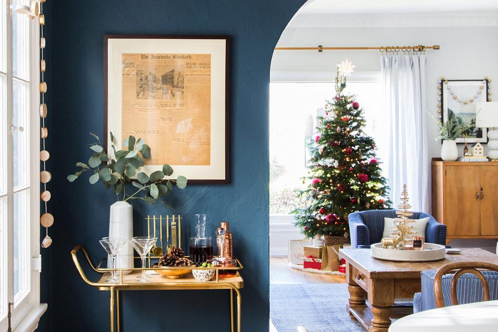 How to Style the Perfect Holiday Bar