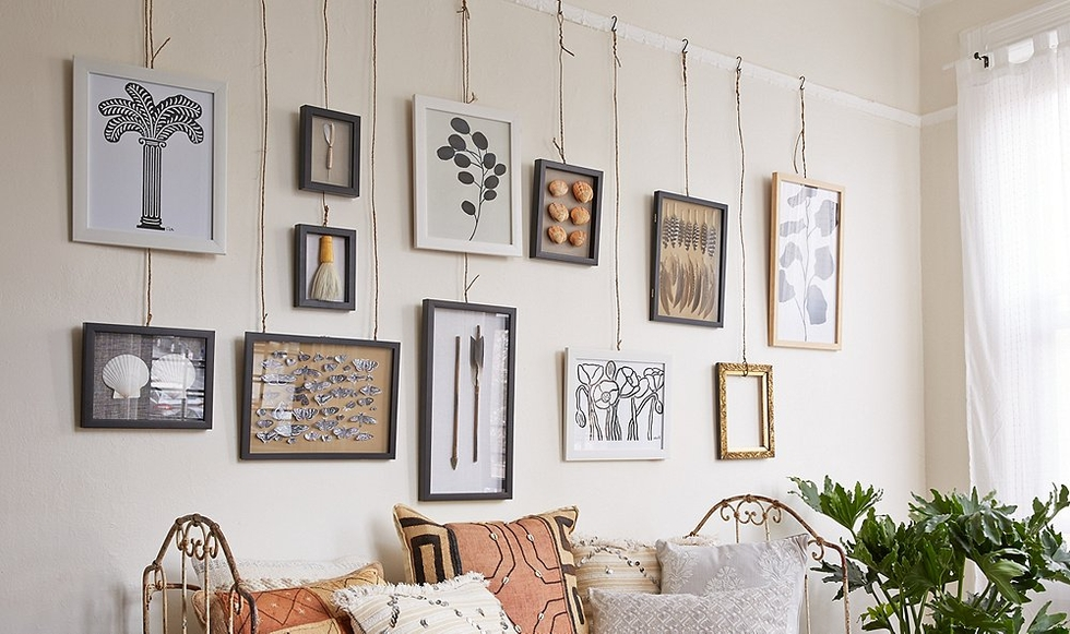 How To Hang A Picture On The Wall bend me, shape me: 5 unique ways to hang artwork | decorist