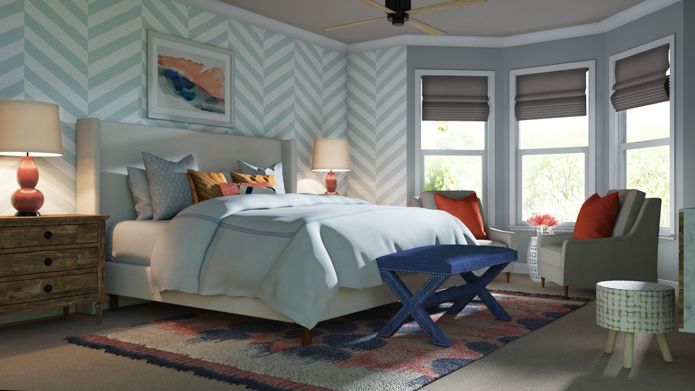 Traditional Bedroom. Traditional bedroom by Decorist Behind The Design  An Updated Master Bedroom