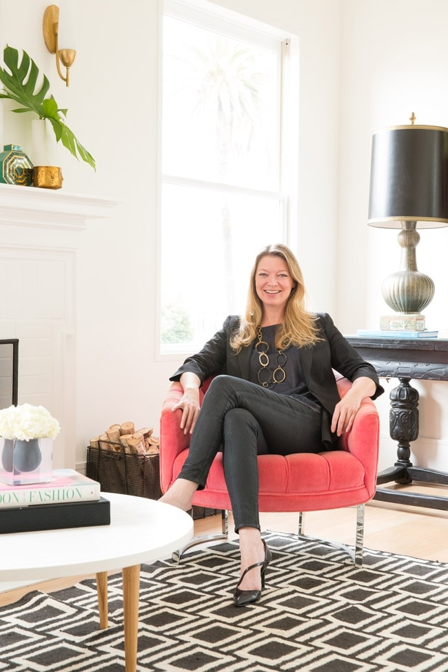 Decorist Founder and CEO Gretchen Hansen in Her Re-Decorated Office