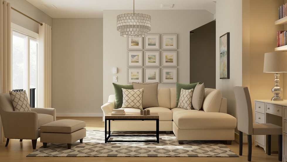 traditionaltransitional living room
