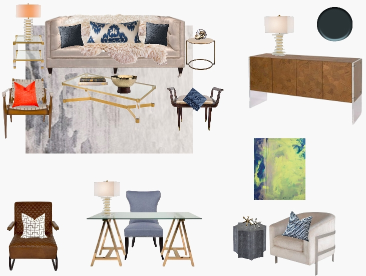 Online Interior Design Project Concept Board