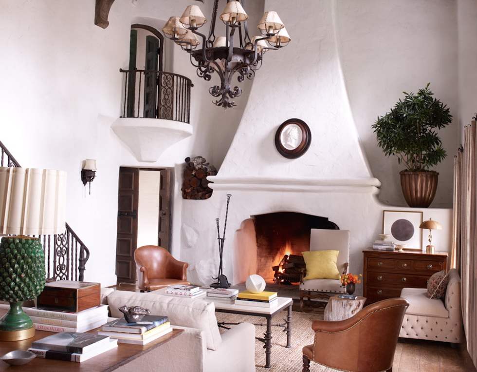 Get The Look: Reese Witherspoon's Elegant Rustic Ranch Living Room