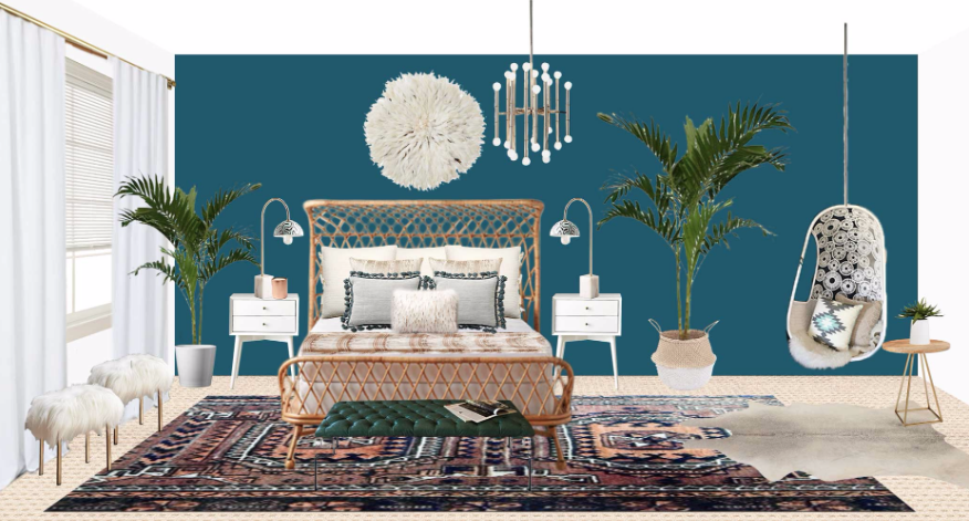 A Must See Modern Bohemian Master Bedroom Makeover Decorist