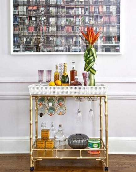 India Hicks Shares Tips for Styling a Bar Cart Decorist