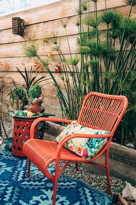 Colorful Woven Chairs