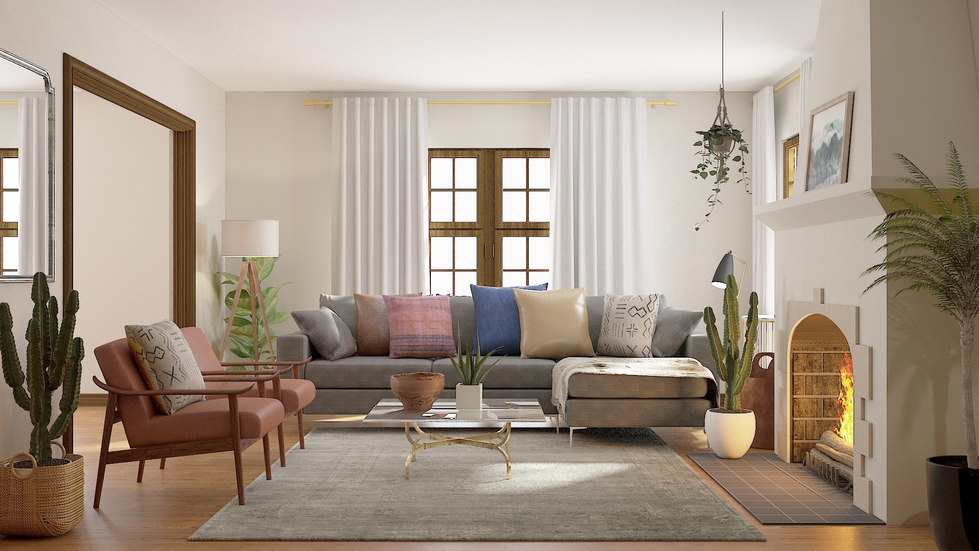 Behind the Design of a Modern-Eclectic Living Room
