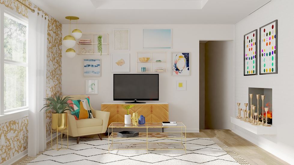 Behind the Design: A Colorful Mid-Century Modern Living Room ...