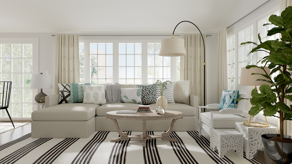 Floor Lamp Behind Sectional Family Rooms