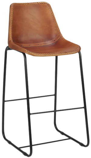 Enjoyable Roadhouse Leather 24 Bar Stool Gamerscity Chair Design For Home Gamerscityorg