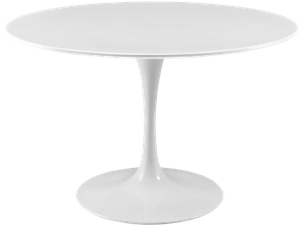 Modway Lippa Round Wood Top 36 Inch Dining Table In White Decorist