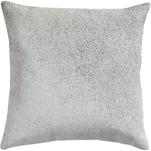 16 Grey And Neutral Cowhide Pillow With Feather Down Insert Decorist