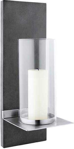Blomus Finca Small Hurricane Candle Wall Sconce With Candle In Black Decorist