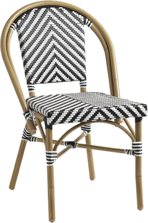 White Kaliko Outdoor Bistro Chairs Set