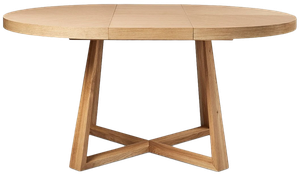 Oliver Round Extension Dining Table Natural Oak Veneer Decorist