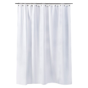 Loved 303 Times Waffle Weave Shower Curtain White Threshold