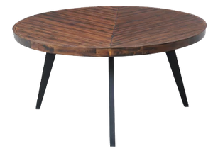 Fiskeville Acacia Round Dining Table Tabacco 30 X60 Decorist