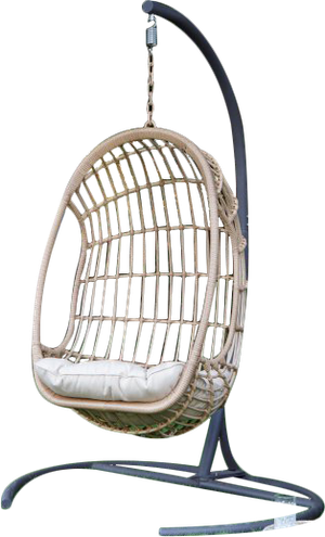Island Bay Bali Resin Wicker Hanging Egg Chair With Cushion And Stand Decorist