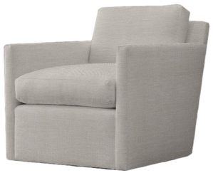 Fine Oliver Track Arm Swivel Chair Perennials Performance Textured Linen Weave Dove Alphanode Cool Chair Designs And Ideas Alphanodeonline