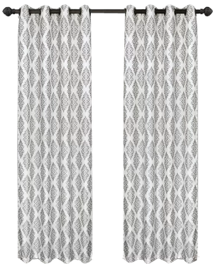 Rizzy Home Linen Window Panel Charcoal//Charcoal 50 by 84-Inch