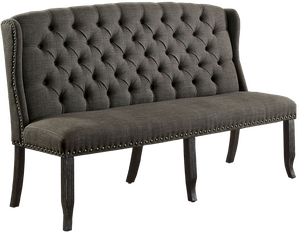 Fabulous Furniture Of America Telara Tufted Wingback 3 Seater Loveseat Grey Pabps2019 Chair Design Images Pabps2019Com