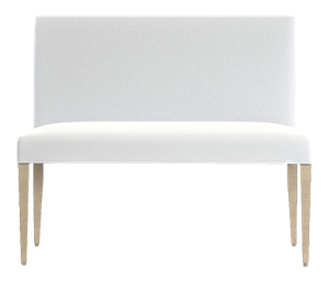 Groovy Miles 42 Upholstered Small Dining Banquette Bench View White Shale Onthecornerstone Fun Painted Chair Ideas Images Onthecornerstoneorg