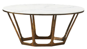 Parker Oval Marble Coffee Table Decorist