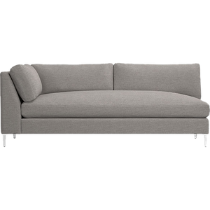 Admirable Decker Left Arm Blue Velvet Sofa Delilah Silver Pabps2019 Chair Design Images Pabps2019Com