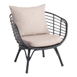 Astounding Black All Weather Wicker Negril Outdoor Occasional Chair Creativecarmelina Interior Chair Design Creativecarmelinacom