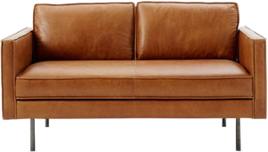 Incredible Axel Leather Loveseat 60 5 Ncnpc Chair Design For Home Ncnpcorg