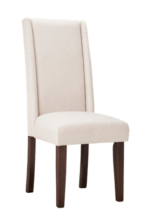 Pleasant Charlie Modern Wingback Dining Chair Set Of 2 Beige Caraccident5 Cool Chair Designs And Ideas Caraccident5Info