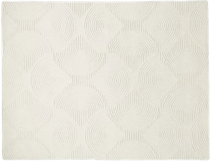 Arches Hand Tufted Wool Ivory Area Rug 8x10 Decorist