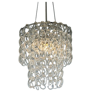 Round Gl Chain Chandelier