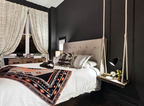 Modern Eclectic Bedroom Design by Lindhesse Design