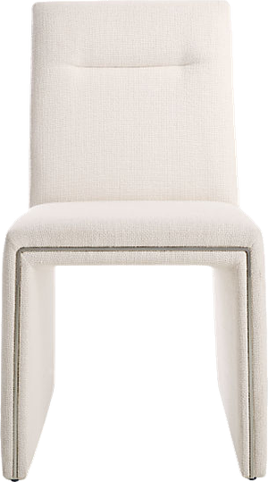 Amazing Silver Lining White Armless Dining Chair Alpha White Home Interior And Landscaping Ologienasavecom
